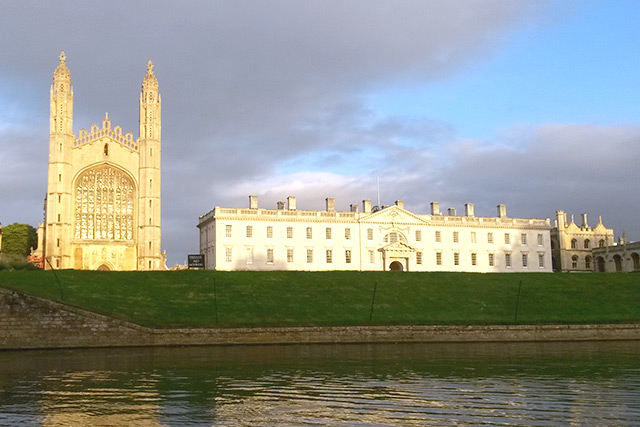King's College from the river Cam